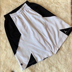 Nike Dri Fit black and white shorts